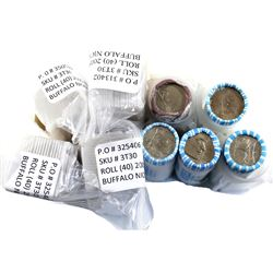 9x USA Commemorative 5-cent Buffalo Rolls., All in original Mint Wrapping. 9 Rolls
