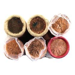 Lot of 6x Original Wrap Canada 1-cent Rolls. Lot includes: 1967, 1977, 1984, 1992, 2003 N.E, 2006 No