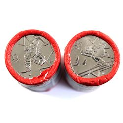 lot of 2x Special Wrap Vancouver Olympic 25-cent Rolls. Lot includes Alpine Skiing and Sledge Hockey