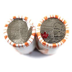 Lot of 2x 2012 Salaberry Commemorative 25-cent Rolls 1x Coloured and 1x Plain. Coins are not origina