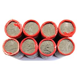 Lot of 8x Special Wrap Vancouver Olympic Commemorative 25-cent Rolls. Lot includes: 2x Ice Hockey, 2