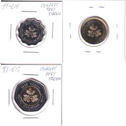 Lot of 3x RCM Concept Test Tokens. Lot includes: TT-C17, TT-C16, & TT-C15. All coins in pristine con