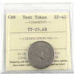 1965 RCM 25-cent Test Token, TT-25.6B. ICCS Certified EF-40 *scarce*