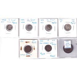 Estate Lot of Older USA Coins. Lot includes: 1854 Large Cent (imp), 1860 1-cent (corr.), 1901 I-cent