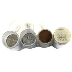 Estate Lot of 157x Canadian 1-cent and 5-cent coins. Lot includes: 31x George 5th 5-cent and 26x Ste