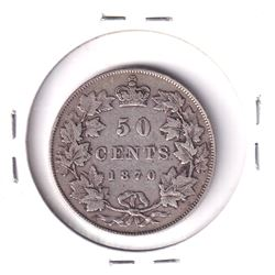 1870 LCW Canada Silver 50-cent Fine