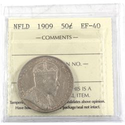 1909 NFLD 50-cent ICCS Certified EF-40
