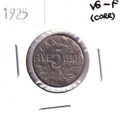 1925 Canada 5-cent VG-Fine (Corrosion)