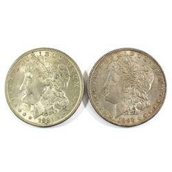 1898 & 1921 Silver USA Peace Dollars. 2pcs