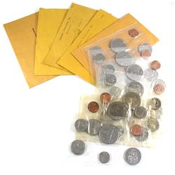 Estate Lot of 1972-1986 Year sets issued by the Canadian Coins of the Year Club (COTY) & RCM sets. L