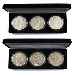 2x United State One Dollar 2-Coin Set: Lot includes the 1971, 1976, & 1978 Eisenhower Dollars & 3x 1