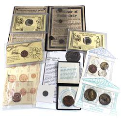 Collection of Commemorative Coins: 1985 Admiral Gardner Shipwreck Cash Coin, Tribute to Masada commi