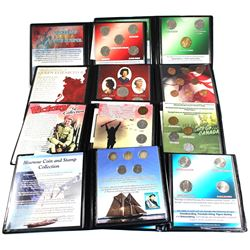 Estate Lot of First Commemorative Mint Canadian Coin Sets: 1987-1996 Canada's Last 10 copper cents,