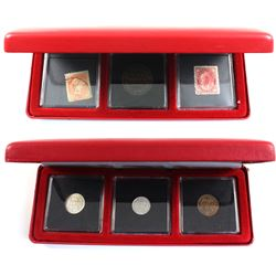 1901 Canada 1-cent with a pair of 3-cent Stamps & 1943 Newfoundland 1-cent, 5-cent & 10-cent set.