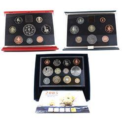 3x Great Britain Proof sets: 1983 United Kingdom proof Coin Set, 1993 United kingdom Proof Coin Set
