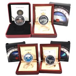 2003-2004 Canada National Wonders $20 Fine Silver Coins (Tax Exempt): 2003 Rocky Mountain, 2003 Niag