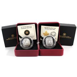 2013 $25 Grandmother Moon Mask & 2014 $25 Matriarch Moon Mask Fine Silver Coins (TAX Exempt) - toned