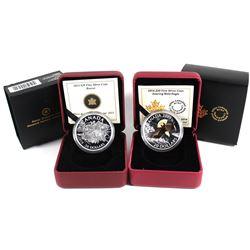 2013 Canada $20 The Beaver Fine Silver Coin & 2014 Canada $20 Soaring Bald Eagle Fine Silver Coin (T