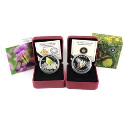 2013 & 2015 Butterflies of Canada - Canadian Tiger Swallowtail & Giant Sulphur Fine Silver Coins (Ta