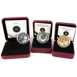 Lot of 3x RCM issued $20 Fine Silver Coins: 2005 Natural Wonders $20 Diamonds, 2013 Canada $20 Group