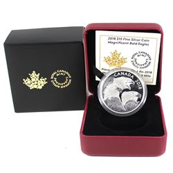 2018 Canada $15 Magnificent Bald eagles Fine Silver Coins (Tax Exempt)