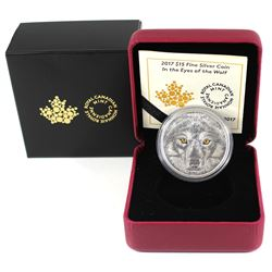 2017 Canada $15 In The Eyes of the Wolf Fine Silver (TAX Exempt)