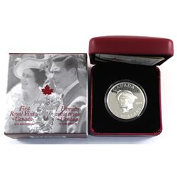 2014 Canada $25 75th Ann. First Royal Visit Ultra High Relief. Capsules is scratched, however Coin r