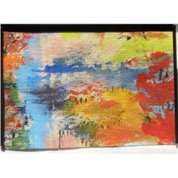 89LA LangdonArt original painting for table, selve, paperweight on desk at home or office - peinture