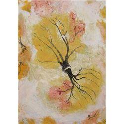 Peinture LangdonArt Feuilles d'Halloween Tombantes- LangdonArt painting Halloween Fallen Leaves