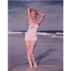 ANDRE DE DIENES (1913-1985): MARILYN MONROE in bathing suit, Tobay Beach, 1949