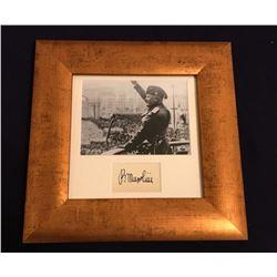 BENITO MUSSOLINI (1883-1945). Autograph professionally framed.
