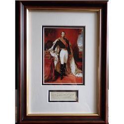 NAPOLEON BONEPARTE III (1808-1873). Autograph professionally framed.