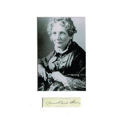 HARRIET BEECHER STOWE (1811-1896).