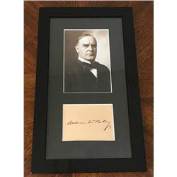 WILLIAM MCKINLEY (1843-1901). Autograph professionally framed.