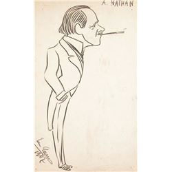 ART: ENRICO CARUSO SIGNED DRAWING.
