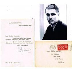 LAURENCE OLIVER SIGNED. (1907-1989).