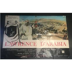 LAWRENCE OF ARABIA ORIGINAL VINTAGE POSTER 1963.