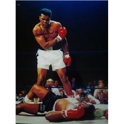 NEIL LEIFER - MUHAMMAD ALI VS SONNY LISTON KO PHOTO.