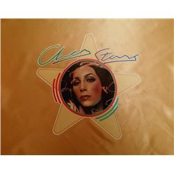 A CHER STARS VINTAGE PILLOW CASE. Previously lot 487