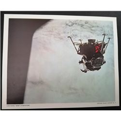 "LUNAR MODULE, ""SPIDER"" ON APOLLO 9 TEST. LITHOGRAPH."
