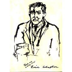ERIC CLAPTON DRAWING.