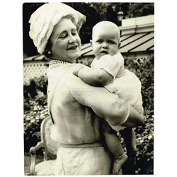 QUEEN MOTHER AND PRINCE ANDREW.
