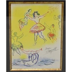 """Marc Chagall - Lithograph, """"Sketch for Giselle"""""""