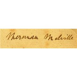 HERMAN MELVILLE SIGNED CUTTING.