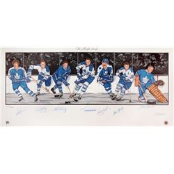 TORONTO MAPLE LEAFS SIGNED HOF PLAYERS POSTER