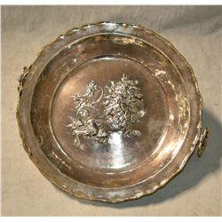 Swedish Baroque Silverplate Bowl.