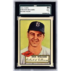 1952 Topps Dick Williams Rookie Card