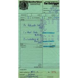 GEORGE HARRISON SIGNED RECIEPT.