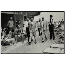 TERRY O'NEILL (1938-2019): Frank Sinatra and Body Guards, Fontainebleau, Miami Beach, 1968
