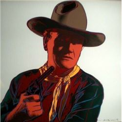 "Andy Warhol lithograph, ""John Wayne"", Printers proof of 15."